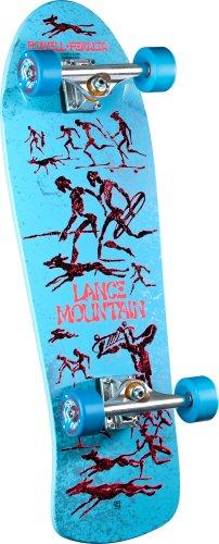Powell Peralta Lance Mountain Zukunft Primitiv Montage Skateboard, hellblau (Powell Schweizer)