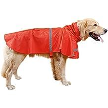 Hund Regenmantel, Haustier Regenjacke, Hunderegenmantel Regenmantel Wasserdicht Kleidung pet dog Raincoat mit reflektierende Streifen L/XL/XXL
