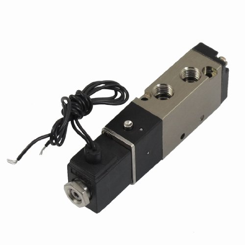 """DC 12V 2 Positionen 5 Weg G1/8\"""" Pneumatikventil Magnetventil mit Kabel de"""