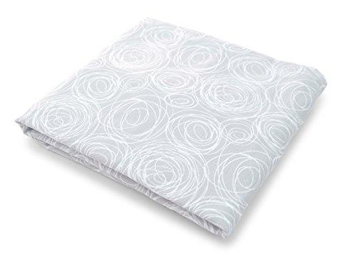 Spot On, Tessuto percalle culla lenzuolo con angoli in cotone organico, colore: grigio