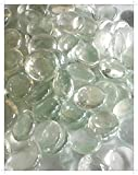 Lot de 100 pierres/billes/galets en verre transparent, forme ronde 17-20 mm
