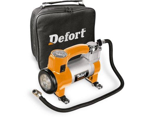 Defort DCC-252-Lt - Compresor automático con luz integrada, asa y bolsa de...