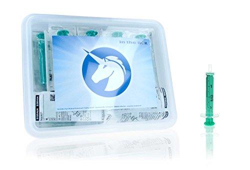 25x 2ml Einmalspritzen-Set ohne Kanülen in der Horn Medical Spritzen-Box - Hochwertige Spritzen von Braun einzeln steril verpackt in der praktischen Box von Horn Medical