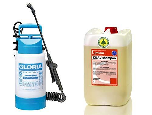Preisvergleich Produktbild Gloria FoamMaster FM30 Schaumsprüher + 10 Liter Autoshampoo Snow Foam Konzentrat