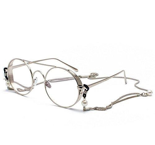 Tukistore Vintage Runde optische Brillen nicht verschreibungspflichtigen Brillen Rahmen mit...