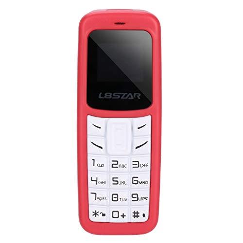 HSKB L8STAR BM30 Mini Bluetooth Handy, Voice Changer/ohne SIM-Lock, Dual-SIM, MP3 / MP4 Beat The Small Kids Toy/Alter Mann Sehr klein und Kompakt mit Ohrbügel (Rot) (Verizon Nicht Vertrag Smartphones)