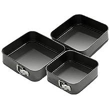 Nueva 3PC antiadherente molde para tartas para horno Bake bandeja redonda latas boda Party