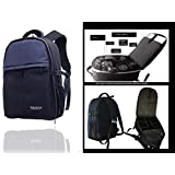 Generic Paradigm Porcelain Bone China DSLR Camera Bag with 15.6-Inch Laptop Compartment for Canon Sony Nikon (Navy Blue, 3-Inch)