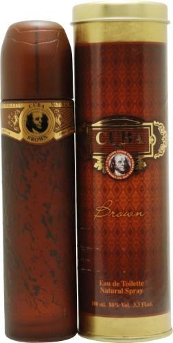 Cuba Brown EDT Vaporisateur/Spray für Ihn 100ml (Cuba Eau Toilette De Deodorant)