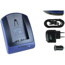 Caricabatteria (USB/Auto/Corrente) per CGA-S006 / Panasonic Lumix DMC-FZ7 FZ8 FZ18 FZ28 FZ30 FZ35 FZ38 FZ50