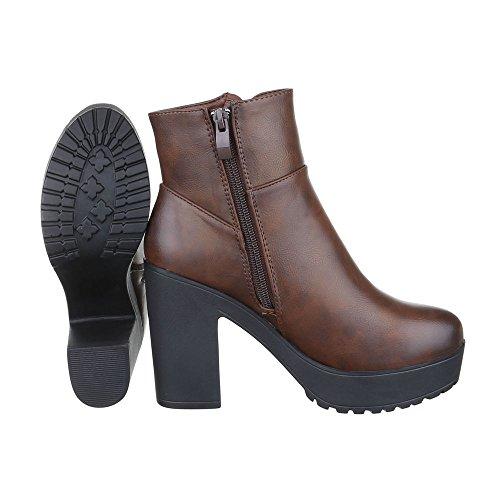 buyAzzo - Stivali da motociclista Donna , Nero (nero), 39