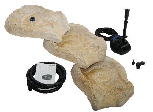 Fontane a cascata Set per cascata Eder con sorgente, pompa e tubo, beige/marrone, pezzi da 53 x 40 x 8 cm/5 pezzi