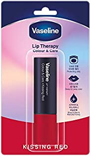 Vaseline Lip Therapy Color & Care, Kissing Red, 4.