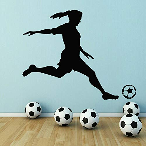 WSLIUXU Sport Fußballtraining Feld Vinyl Aufkleber Wandbilder Dekoration Mädchen Schlafzimmer Kinderzimmer Jugendzimmer Wandaufkleber Hausgarten Athleten Tomate Rot 53x42 cm -