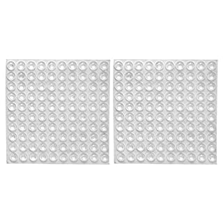 Clear Rubber Feet Adhesive Bumper Pads Self Stick Bumpers Sound Dampening Door Bumpers Cabinet Buffer Pads, 8.5 by 2.5 mm, 200 Pieces