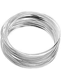 Pulseras aros de plata