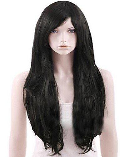 Mode Perücken WIGSTYLE capless schwarz extra lang hochwertigen natürlichen geschweiften synthetische ()