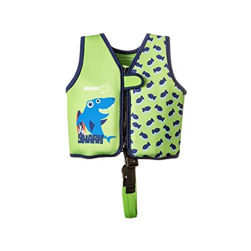 MUNDO PETIT - Schwimmweste - Kinder und Kleinkind Float-Weste - Kinder-Schwimmweste aus Neopren - Beinhaltet Eine Band der Sicherheit und 8 Schwimmkorper austauschbar - 9-15 KG (Verde)