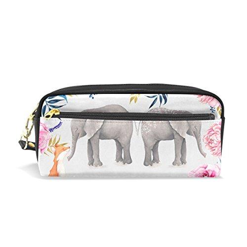imobaby - Estuche de piel sintética con diseño de elefantes y zorro...