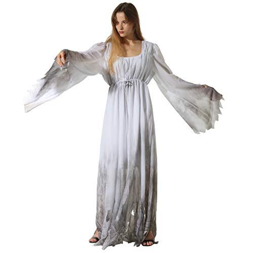 Kostüm Gossamer - EraSpooky Damen Gossamer Ghost Kostüm Gothic Victorian Weiß Schick Kleid