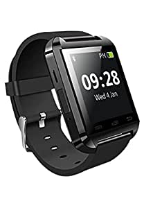 M-STARK samsung T111 Compatible Bluetooth Smart Watch Phone (BLACK) With Touch Screen,Multilanguage,Android/Ios Mobile Phone Wrist Watch With Activity Trackers And Fitness & Supports Apps Like Facebook And Whatsapp