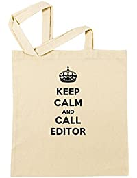 Keep Calm And Call Editor Bolsa De Compras Playa De Algodón Reutilizable Shopping Bag Beach Reusable