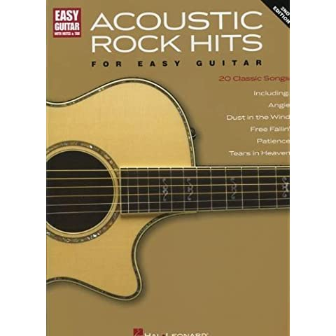 ACOUSTIC ROCK HITS FOR EASY GUITAR 2ND EDITION WITH NOTES & TAB by Hal Leonard Corp. (1995) Paperback