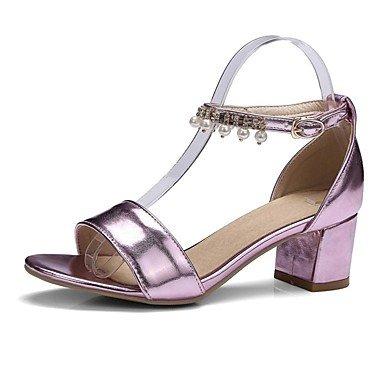 LvYuan Sandalen-Büro Kleid Party & Festivität-PU-Blockabsatz-Club-Schuhe Komfort-Lila Silber Gold Purple