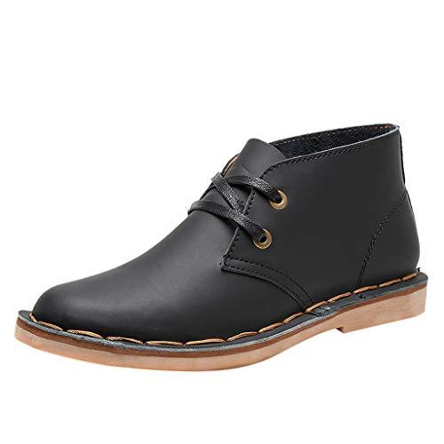 KERULA Boots Damen, Active Fashion Classic Wild Round Head Britische Wind Tube Freizeitschuhe | Worker Boots | Verstellbare Schnürschuhe -