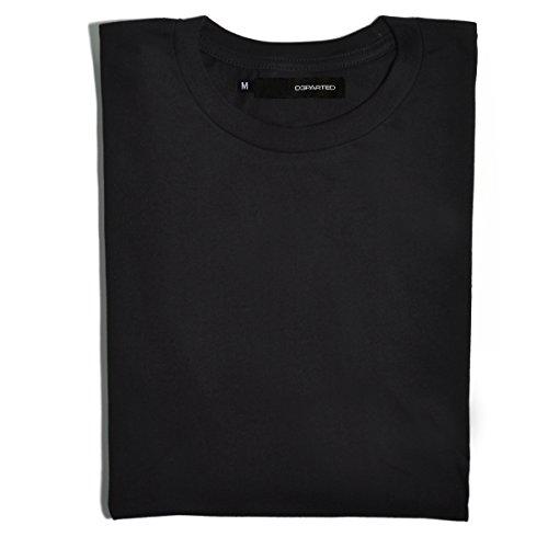 DEPARTED Herren T-Shirt Blank Größe M, black (T-shirt Beratungs-schwarz)