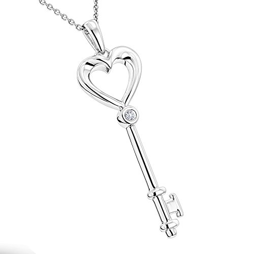 luxurman-love-quotes-ladies-necklace-sterling-silver-diamond-key-pendant-001cth-i-colorsi-i-clarity