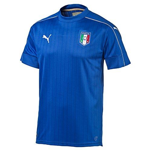 Puma FIGC Italia Home Replica Maglietta, Blu, M