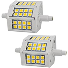 R7S 5W 78mm LED Bombillas 24x SMD5050 Blanco Cálido 3000K 400lm, No Regulable - Equivalente J78 50 W R7s Bombilla halógena (Pack de 2)