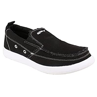 Sparx Mens BLACK Canvas Shoes (SM-234-BLACK-8)