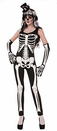 (Forum Novelties Halloween Damen Kostüm Skelett Jumpsuit Overall Gr.M/L)