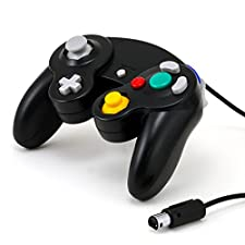 CSL - Gamepad / manette Nintendo GameCube | Manette Nintendo Wii | Effet de vibrations| Noir