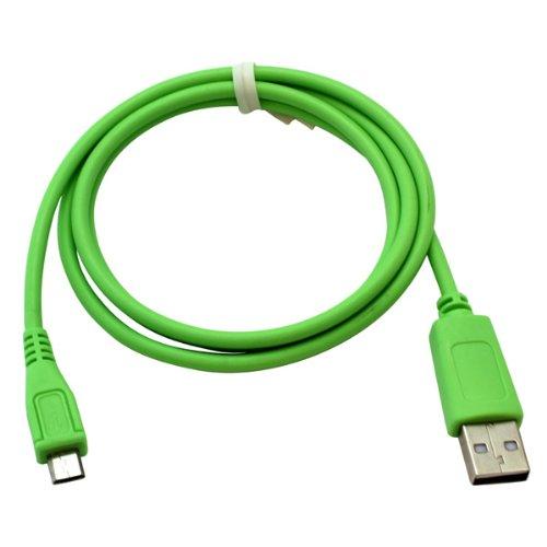 Handycop® Micro USB Datenkabel Grün für Huawei Ascend W1 / Ascend Y200 / Ascend Y201 pro/ Ascend Y330 / Ascend Y530 / /IDEOS X3 / IDEOS X5 / Sonic / Vision / Honour