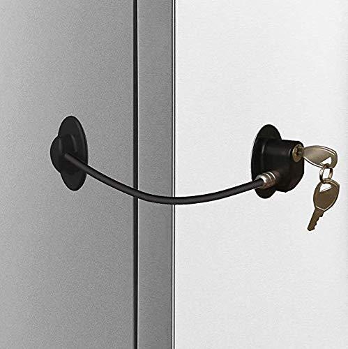 Homy Bloqueo de frigorífico, cerradura para puerta de congelador, blo