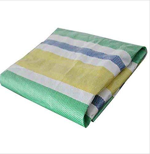 Waterproof Cloth Home Espuma Impermeable Rayada Verde de la Cubierta de la Hoja de la Lona 0.1mm, 100g / m2 (Size : 5 * 50m)