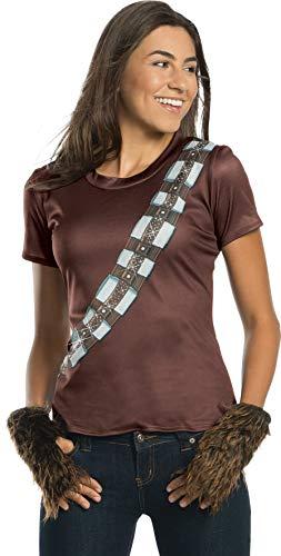Womens Chewbacca Kostüm - Rubies Star Wars Womens Chewbacca Rhinestone Costume Top L