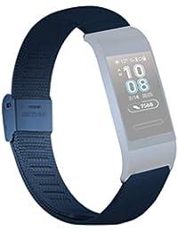 Edelstahl Armband für Huawei 3/3 PRO,Bloodfin Armbänder Ersatzarmband metallarmband Ersatzband Mesh Loop Schlaufe Uhrenarmband Geschenk Herren Damen Stahlband (Blau)