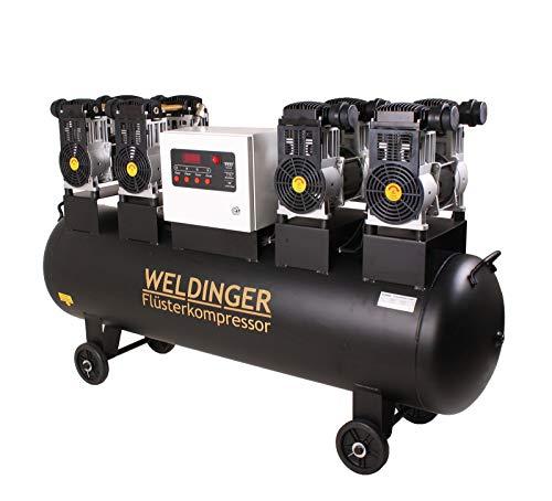 WELDINGER Flüsterkompressor FK 680 pro 6,4 kW Luftabgabe 680 l (Silentkompressor ölfrei wartungsfrei)
