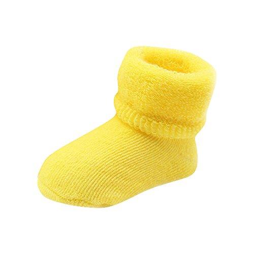 Bébé Toddlers coton peigné socquettes Yogogo les filles Boy Elasticité laine Chaussettes