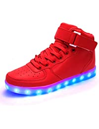 DoGeek-Basket Lumineuse Chaussures Led Lumière Basket Led Garçon Fille - 7 Couleurs - USB Rechargeable Chaussures