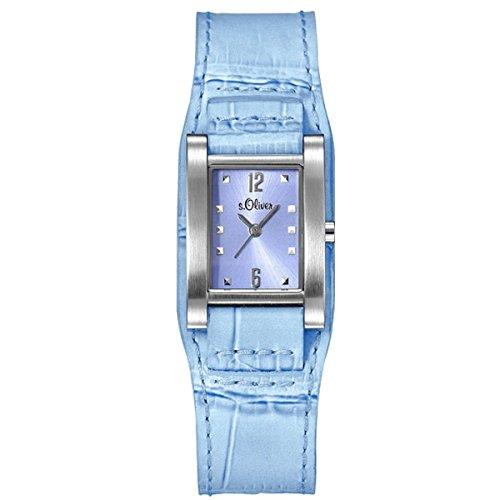 s.Oliver Femmes Montre Bleu clair SO-15035-LQR