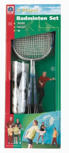 Mookie 8831 - Badminton-Set für 4 Spieler