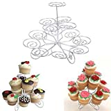 3 Tier Metal Cupcake Stand Holder Tower Wedding Party Dessert Carrier Display TB