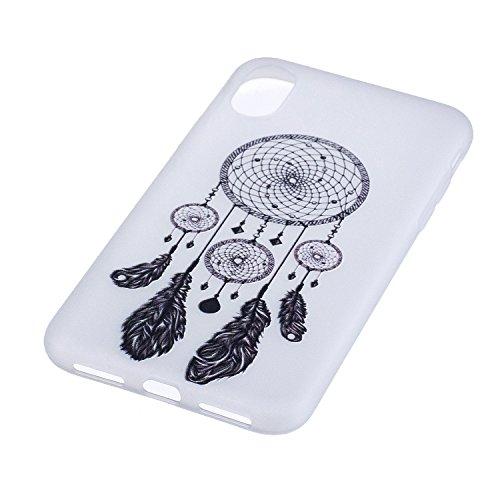 iPhone X Hülle, Voguecase Silikon Schutzhülle / Case / Cover / Hülle / TPU Gel Skin für Apple iPhone X(Weltkarte 01) + Gratis Universal Eingabestift Lace Campanula