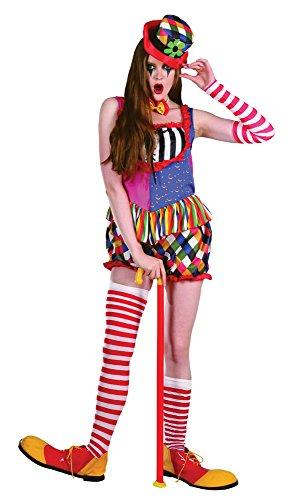 Bristol Novelty AC210 Costume da Pagliaccio Arcobaleno da Donna