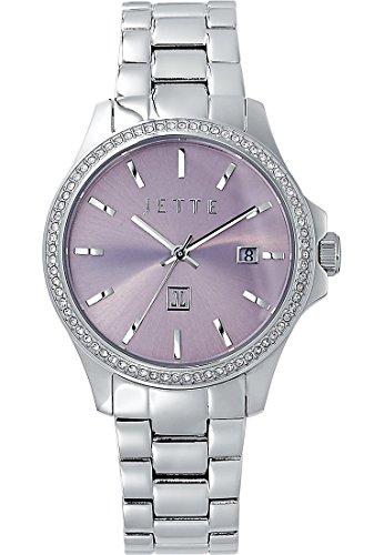JETTE Time Damen-Armbanduhr Analog Quarz One Size, rosa, Silber